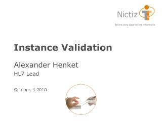 Instance Validation