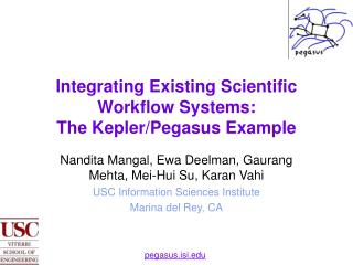 Integrating Existing Scientific Workflow Systems:  The Kepler