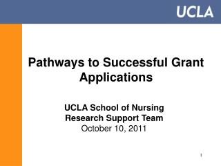 Pathways to Successful Grant Applications