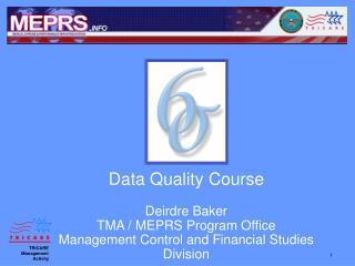 Data Quality Course   Deirdre Baker TMA