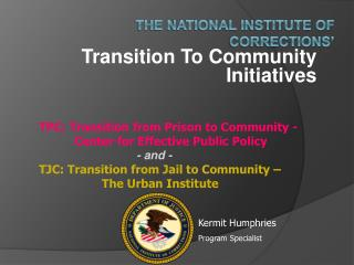 The National Institute of Corrections