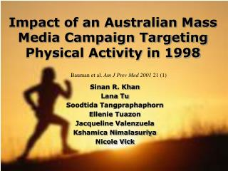 Impact of an Australian Mass Media Campaign Targeting Physical Activity in 1998