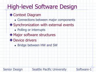 High-level Software Design