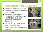 Virginia Kid Wind Challenge