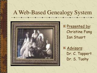 A Web-Based Genealogy System