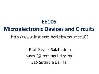 EE105 Microelectronic Devices and Circuits