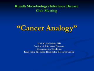 Cancer Analogy
