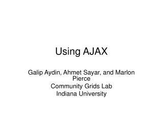 Using AJAX