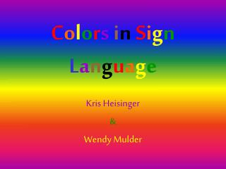 Colors in Sign Language