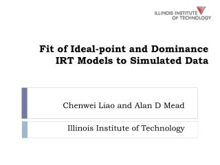 Fit of Ideal-point and Dominance IRT Models to Simulated Data