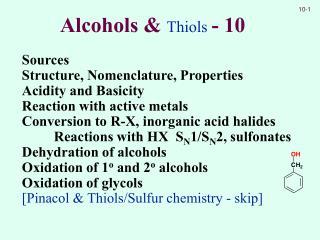 Alcohols  Thiols - 10