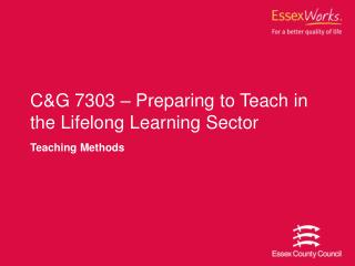 CG 7303   Preparing to Teach in the Lifelong Learning Sector