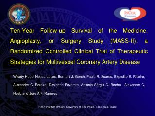 Ten-Year Follow-up Survival of the Medicine, Angioplasty, or Surgery Study MASS-II: a Randomized Controlled Clinical Tri