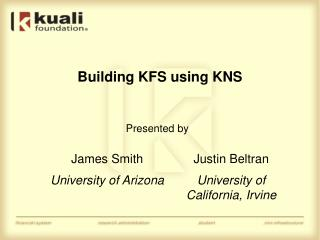 Building KFS using KNS