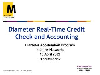 Diameter Real-Time Credit Check and Accounting