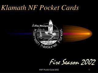 Klamath NF Pocket Cards
