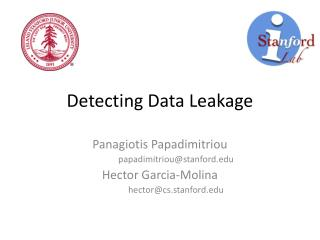 Detecting Data Leakage