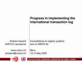 Andrew Howard UNFCCC secretariat  unfccct ahowardunfccct