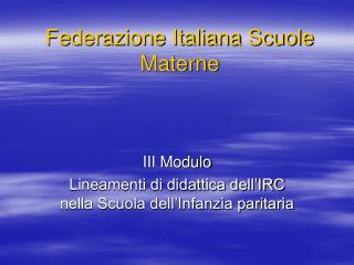 Federazione Italiana Scuole Materne