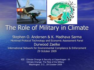 The Role of Military in Climate