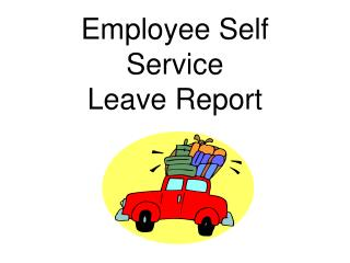 Employee Self Service  Leave Report