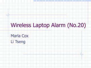 Wireless Laptop Alarm No.20