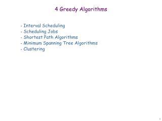 4 Greedy Algorithms