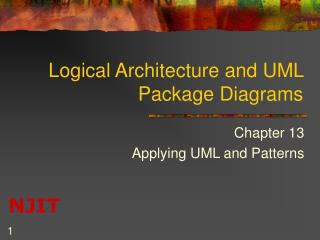 Logical Architecture and UML Package Diagrams
