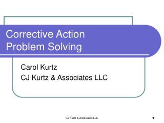 Corrective Action Problem Solving