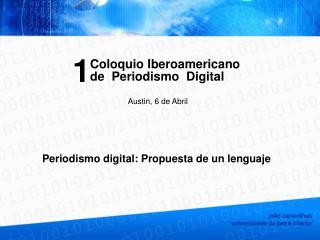 Periodismo digital: Propuesta de un lenguaje