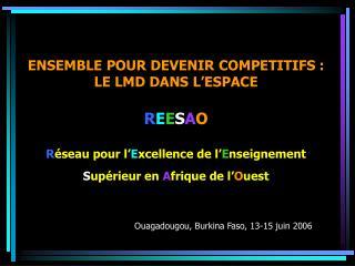 ENSEMBLE POUR DEVENIR COMPETITIFS : LE LMD DANS L ESPACE   REESAO  R seau pour l Excellence de l Enseignement Sup rieur