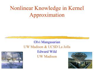 Nonlinear Knowledge in Kernel Approximation
