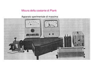 Misura della costante di Plank  Apparato sperimentale di massima