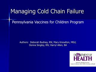 Managing Cold Chain Failure