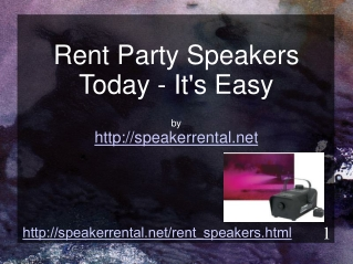 How And Where To Rent Party Speakers