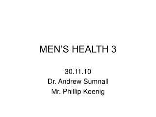 MEN S HEALTH 3