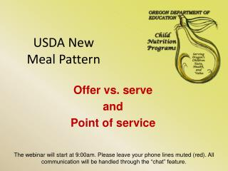USDA New  Meal Pattern