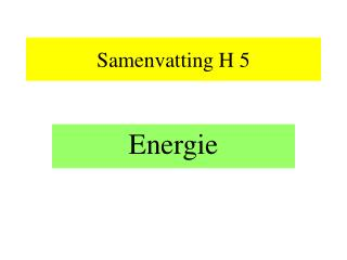 Samenvatting H 5
