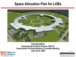 Space Allocation Plan for LOBs