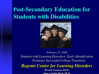 Post-Secondary Education for Students with Disabilities