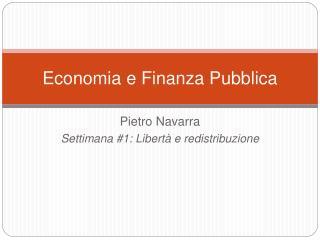 Economia e Finanza Pubblica