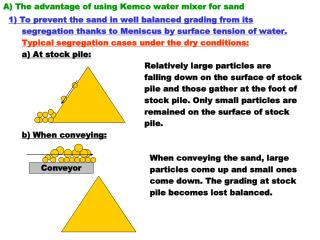 A The advantage of using Kemco water mixer for sand