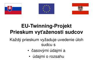 EU-Twinning-Projekt Prieskum vyta enosti sudcov