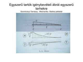 Egyszeru tart k ig nybev teli  br i egyszeru terhekre Szentiv nyi-Tam ssy : Mechanika. Statikai p ldat r