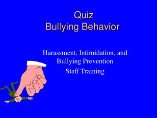 Quiz Bullying Behavior