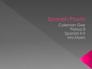 The bestest Spanish Poem
