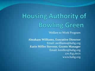 Housing Authority of Bowling Green