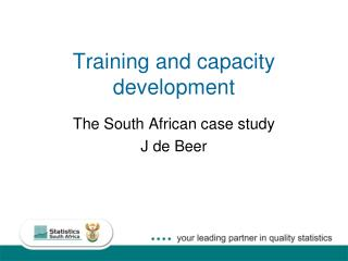 Training and capacity development