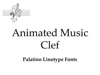 Animated Music Clef