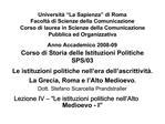 Universit   La Sapienza  di Roma Facolt  di Scienze della Comunicazione Corso di laurea in Scienze della Comunicazione P